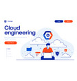 flat modern design cloud engineering vector image