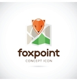 Fox Point Abstract Symbol Icon vector image