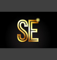 gold alphabet letter se s e logo combination icon vector image vector image