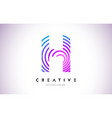 h lines warp logo design letter icon made vector image vector image
