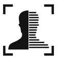 half face scan icon simple style vector image