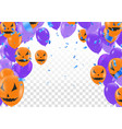 halloween balloon banner on orange background vector image