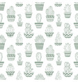 hand drawn sketch pattern cactus vector image vector image