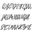 handwritten chalked alphabet imitation vector image vector image