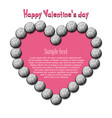 happy valentines day heart from volleyball balls vector image