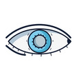 heathy eye vision and optical care vector image vector image
