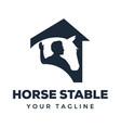 horse stable logo design vector image