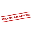 ISO Guarantee Watermark Stamp vector image vector image