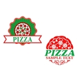 Italian pizza emblems and banners vector image vector image