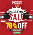 Knockout Sale Promotion vector image vector image