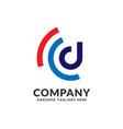 letter d signal logo design vector image vector image