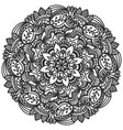 mandala floral hand drawn for coloring vector image vector image