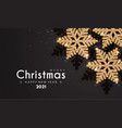 merry christmas and happy new 2021 year elegant vector image vector image