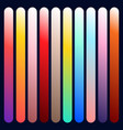 modern gradient set with square abstract vector image
