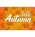 nature leaf Hello Autumn Watercolor orange vector image vector image