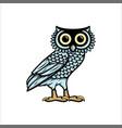 owl logo design vector image vector image