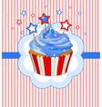 Patriotic cupcake place card vector image vector image