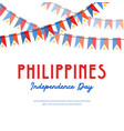 philippines independence day banner vector image vector image