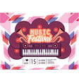 piano equipment to music festival celebration vector image vector image