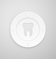 plate with a dent in the shape of a tooth vector image vector image