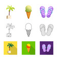 pool and swimming icon set vector image