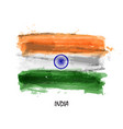 realistic watercolor painting flag of india vector image vector image