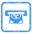 ripple card terminal framed stamp vector image vector image