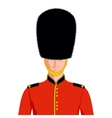 Royal British guard vector image vector image