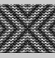 seamless black centre knitting vector image vector image