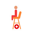 seat of lifesaver on beach cartoon icon vector image