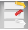 Set of blank rectangle labels acute corners vector image vector image