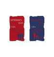 set of brochure poster templates in veterans day vector image