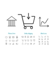 Set of finance and online payments icons vector image vector image