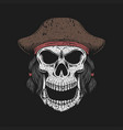 skull hat pirate vector image vector image