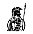 spartan sign with spear and shield vector image