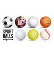 sport balls set isolated vector image vector image