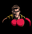 superhero dark portrait vector image vector image