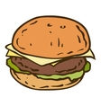Tasty Burger Isolated on a White Background vector image