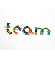Team word lettering banner vector image vector image