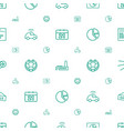 trendy icons pattern seamless white background vector image vector image