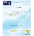 united states and british virgin islands map vector image