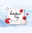 valentine day sale concept template poster holiday vector image