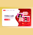 video call mobile chat concept people talk web vector image vector image