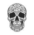 vintage monochrome sugar skull vector image vector image