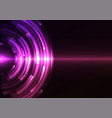 violet circle digital abstract sheet background vector image vector image