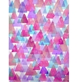 Watercolor triangles background Triangles vector image
