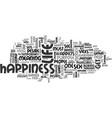 where is happiness text word cloud concept vector image vector image