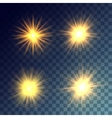 yellow suns set vector image vector image