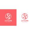 zen wellness spa logo icon vector image