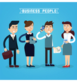 Business People Businessman and Businesswoman vector image